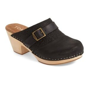 {Toms} Elisa Wooden Leather Clogs